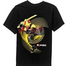 Lego Ninjago t-shirt 4-5 XS 6-7 S 8 M 10-12 L 14 16 XL 18 XXL New Child Tee