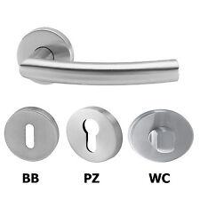 Türgriff, Türbeschlag, Drückergarnitur, Türklinke, Edelstahl matt BB, PZ,WC Tür