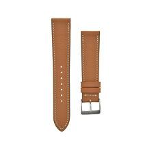 "ALMA Togo CALF Skin Leather Watchstrap Gold Cognac Bracelet UHRBAND ""Hermes"""