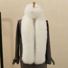 US Women Faux Fox Fur Scarf Long Soft Collar Shawl Wrap Stole Fluffy Furry Warm