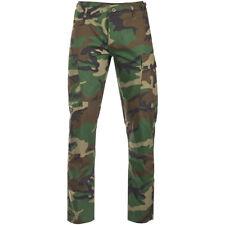 Teesar US BDU Heren Broek Ripstop SlimFit Uniform Buitenshuis Woodland Camo