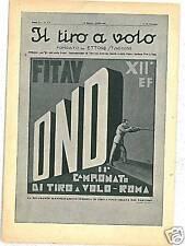 CARTOLINA d'Epoca PUBBLICITARIA: TIRO AL VOLO ROMA 1934