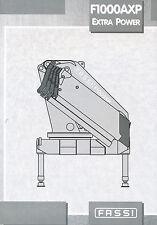 Prospetto Fassi f1000axp EXTRA POWER gru di carico 12 01 2001 brochure Crane Italia