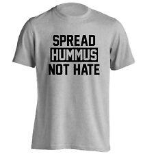Spread Hummus Not Hate t-shirt peace love heart vegetarian vegan food pun 3699