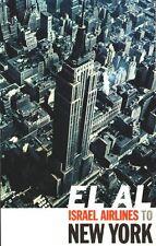 Vintage El Al Airlines Flights to New York Poster  A3/A2 Print