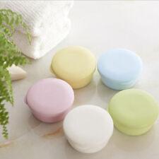 Travel Round Soap Dish Box Pink Case Holder Container Wash Shower Bathroom CS
