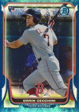 2014 Bowman Chrome Bubble Refractor #26 Garin Cecchini 82/99 Boston Red Sox