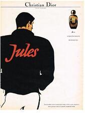 PUBLICITE ADVERTISING   1982    DIOR  rené GRUAU  pour hommes senteurs