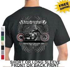 Great American Bobber Motorcycle Rider Biker Chopper Eagle Wings Mens TShirt