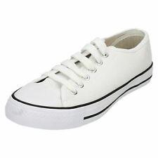 REBAJAS Hombre Spot On Blanco Zapatillas De Lona x0001