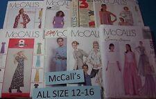 A McCall's ~ Pattern Sizes 12-16 (12,14,16) U-PICK ~ 25+ Listed ~ 6400  NIP
