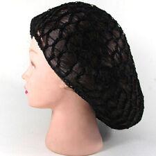 Women Soft Rayon Snood Hair Net Crochet Hairnet Knit  Hat Cap Simple Hairband