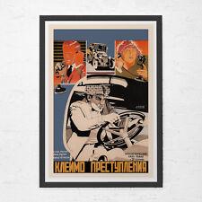 Russian Avant Garde Art Poster - Machine Age Industrial Art - Vintage Film Poste
