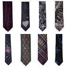 Vivienne Westwood Men's 100% Silk Ties - Made In Italy - Authentic