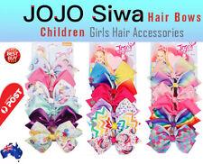 6pcs Signature Jojo Siwa Bows Girls Fashion Hair Accessories Party Gift AU