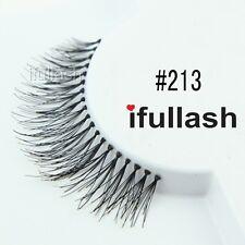 #213  6 or 12 pairs of ifullash 100% human hair Eyelashes- BLACK