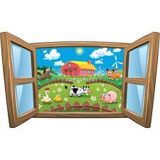 Sticker enfant fenêtre Les animaux de la ferme réf 1031 1031