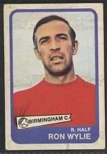 (ar76) ABC Gum, Footballers, Yellow #18, Ron Wylie, Birmingham City 1968 G