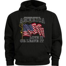 Big and tall sweatshirt for men American Flag decal hoodie bigmen clothing
