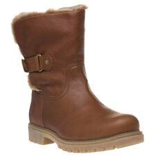 New Womens Panama Jack Tan Felia Leather Boots Ankle Pull On