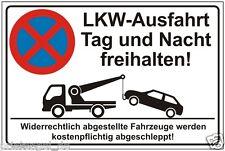 Prohibido aparcar,Estacionamiento,Signo de,CAMIÓN,Salida,dejar libre,Sin parar,