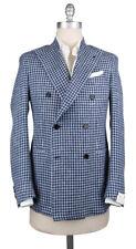 New $3000 Luigi Borrelli Blue Silk Blend Sportcoat - (GUDP163371)