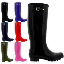 Ladies Original Tall Gloss Waterproof Wellies Rain Wellington Boots All Sizes