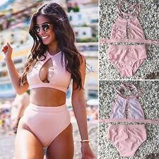2017 RETRO Swimsuit Swimwear Push Up Bandeau HIGH WAISTED Bikini Bathing Suit
