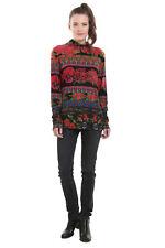 Desigual Black Isabella Floral Long Sleeved Winter Top XS-XXL UK 8-18  RRP£54