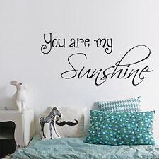 You Are My Sunshine Wall Sticker Romantic Happy Quote Vinyl Art Decor Idea Gift