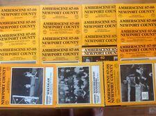 NEWPORT COUNTY HOME PROGRAMMES 1987/88 LAST SEASON IN THE LEAGUE- SELECT MENU