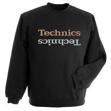 DMC Technics Champion Edition Sweatshirt Black - Gold/Silver Printed Logo S-XXL