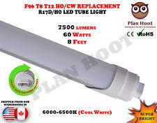 F96T12 T8 R17D 8 Feet 60 Watt MILKY Lens LED Fluorescent Replacement Tube Light