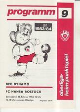 OL 83/84  BFC Dynamo Berlin - FC Hansa Rostock