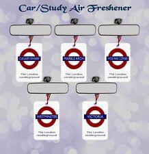LONDON UNDERGROUND CAR/OFFICE/STUDY AIR FRESHENER  SINGLE/DOUBLE PACKS