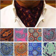 Men Fashion Paisley Floral Wedding Party Scarves Cravat Ties Ascot