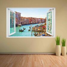 Gondolas Canal Venice Italy 3D Wall Sticker Mural Decal Kids Home Decor CV38