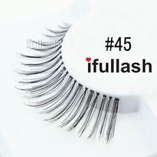 #45  6 or 12 pairs of ifullash 100% human hair Eyelashes- BLACK