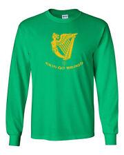264 Erin Go Bragh Long Sleeve Shirt Ireland St. Patricks Day beer party clover