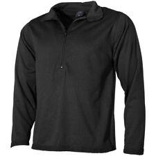 MFH US Undershirt Level II Gen III Mens Long Sleeve ECWCS Underwear Gym Black