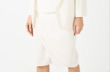 Jacques Vert Women's White Asymmetrical Skirt Size 8 10 12 14 16 18