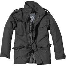 Brandit Mens M65 Classic Security Field Jacket Police Coat Military Parka Black