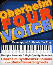 OBERHEIM Four Voice SYNTH SOUND Reason NNXT Exs 24 Kontakt Akai Soundfont Wav CD