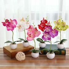 Artificial Silk Flower Wedding Decor Triple Head Phalaenopsis Home Garden Decor