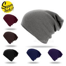 Men Women Baggy Cap Slouch Oversize Hat Ski Beanie Winter Knit Warm AU