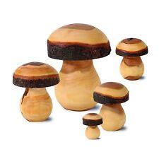 Gedrechselte Pilze aus Zierholz, ideal als Geschenkidee, Größen wählbar
