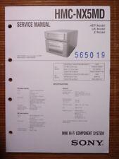 Service MANUAL Sony hmc-nx5md HIFI-SYSTEM, ORIGINALE
