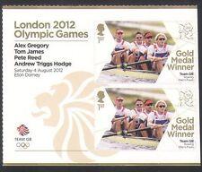 GB 2012 Olympics/Sports/Gold Medal Winners/Rowing/Men's Fours 2v + lbl (n35463a)
