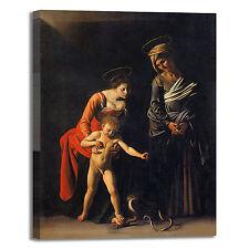 Caravaggio Madonna bambino sant'Anna quadro stampa tela dipinto arredo casa