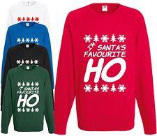 I'm Santa's Favourite Ho Sweatshirt Funny Christmas Jumper Comedy Gift Present